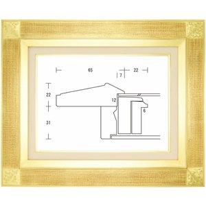 油絵額縁 油彩額縁 アートフレーム 木製 平傾斜角紋 サイズP20号|touo