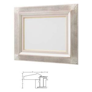 油絵額縁 油彩額縁 アートフレーム 木製 平傾斜角紋 サイズM8号|touo