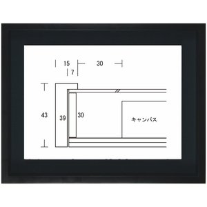 額縁 油彩額 油絵額縁 木製フレーム K-BOX サイズP3号|touo