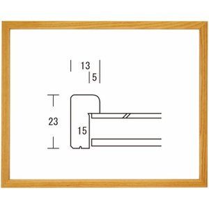 額縁 正方形の額 木製フレーム L型 500角サイズ|touo