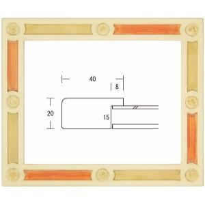 額縁 水彩額縁 木製フレーム ポール水彩 サイズF4号|touo