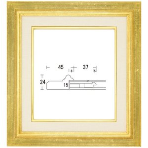 額縁 アートフレーム 色紙額縁 木製 レインボーB|touo