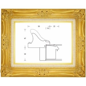 額縁 油絵額縁 油彩額縁 木製フレーム ルイ14世 サイズM12号|touo