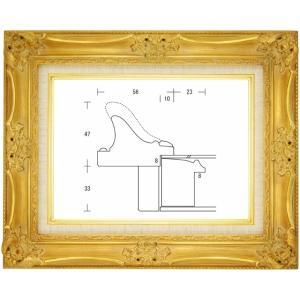 額縁 油絵額縁 油彩額縁 木製フレーム ルイ14世 サイズP15号|touo