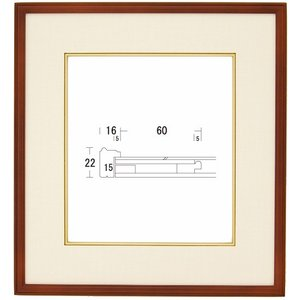 額縁 アートフレーム 色紙額縁 木製 S-1000 touo