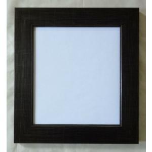 額縁 アートフレーム 色紙額縁 風雅 8×9 ブラック 箱入|touo