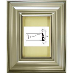 額縁 油彩額 油絵額縁 アルミフレーム 6269 ガラス付 サイズP0号|touo