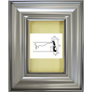 額縁 油絵額縁 油彩額縁 正方形の額縁 アルミフレーム 6269 ガラス付 サイズS3号|touo