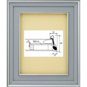 額縁 油絵額縁 油彩額縁 アルミフレーム DA-603 マットB ガラス付 サイズF0号|touo