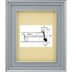 額縁 油絵額縁 油彩額縁 アルミフレーム DA-603 マットB ガラス付 サイズM0号|touo