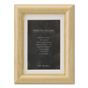 額縁 フォトフレーム 写真立て 木製フレーム C018 L ブラウン|touo