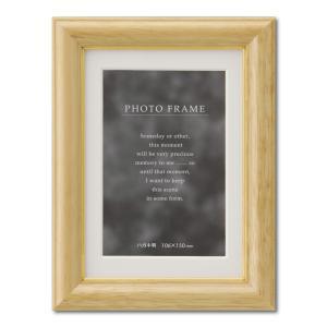 額縁 フォトフレーム 写真立て 木製 C018 ハガキ ナチュラル|touo