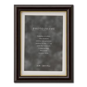 額縁 フォトフレーム 写真立て 木製 C018 サイズ2L ブラウン|touo
