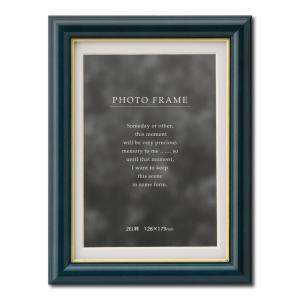 額縁 フォトフレーム 写真立て 木製 C018 サイズ2L ブルー|touo