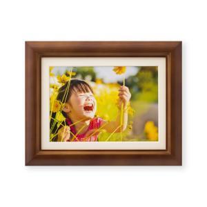 額縁 フォトフレーム 写真額縁 木製フレーム ミモザ サイズ2L ブラウン|touo