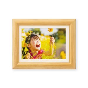 額縁 フォトフレーム 写真額縁 木製フレーム ミモザ サイズ2L ナチュラル|touo