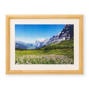 額縁 フォトフレーム 写真額縁 木製フレーム ミモザ サイズ4切 ナチュラル|touo