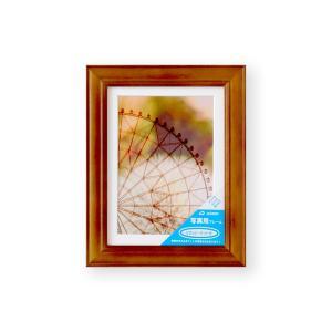 額縁 フォトフレーム 写真額縁 木製フレーム ベルン ブラウン サイズ2L|touo