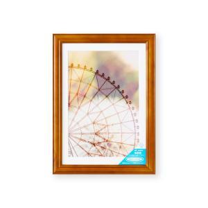 額縁 フォトフレーム 写真額縁 木製フレーム ベルン Wサイズ6切 ブラウン touo
