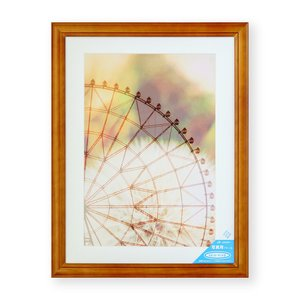 額縁 フォトフレーム 写真額縁 木製フレーム ベルン Wサイズ4切 ブラウン|touo