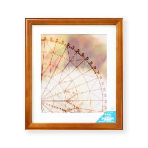 額縁 フォトフレーム 写真額縁 木製フレーム ベルン サイズ4切 ブラウン|touo