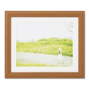 額縁 フォトフレーム 写真額縁 木製フレーム カズン サイズ6切 チーク|touo
