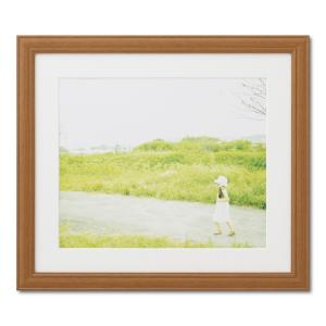 額縁 フォトフレーム 写真額縁 木製フレーム カズン サイズ4切 チーク|touo
