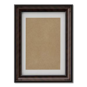額縁 フォトフレーム 写真立て 木製フレーム 肖像額 5×6 金ラック 箱入 ハガキ|touo