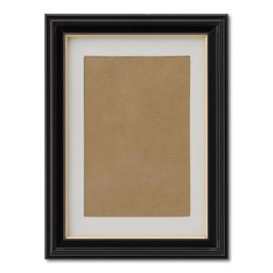額縁 フォトフレーム 写真立て 木製フレーム 肖像額 5×6 入山 箱入 ハガキ|touo