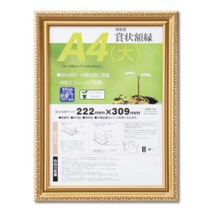賞状額縁 フレーム 許可証額縁 金消し-R PET A4(大)サイズ SP|touo