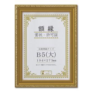 額縁 賞状額縁 許可証額縁 金消-R PET B5(大)サイズ 箱入|touo