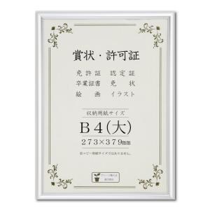 賞状額縁 フレーム 許可証額縁 オールライト PET B4サイズ SP|touo