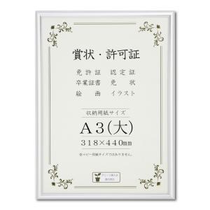 賞状額縁 フレーム 許可証額縁 オールライト PET A3サイズ SP|touo