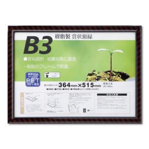 賞状額縁 フレーム 許可証額縁 金ラック-R PET B3サイズ SP|touo