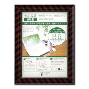 賞状額縁 フレーム 許可証額縁 金ラック-R PET B5サイズ SP|touo