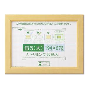 賞状額縁 フレーム 許可証額縁 木製 カノエ B5(大)サイズ SP ナチュラル|touo