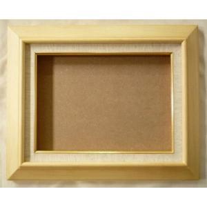 額縁 油彩額 油絵額縁 木製フレーム KL02 サイズF3号|touo