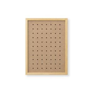 額縁 OA額 ポスター額縁 木製フレーム 有孔ボードパネル A4サイズ ナチュラル|touo