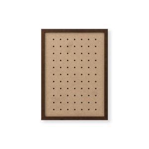 額縁 OA額 ポスター額縁 木製フレーム 有孔ボードパネル A4サイズ ブラウン|touo