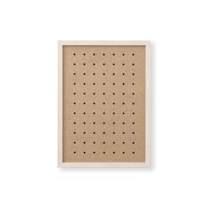 額縁 OA額 ポスター額縁 木製フレーム 有孔ボードパネル A4サイズ アンティークホワイト|touo