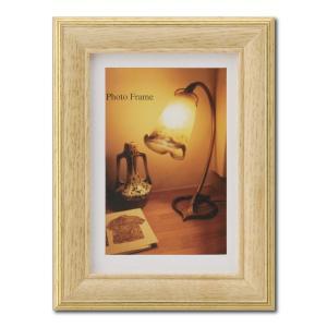 額縁 フォトフレーム 写真立て 木製フレーム エビネ L ナチュラル|touo