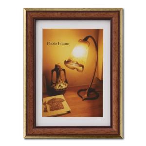 額縁 フォトフレーム 写真立て 木製フレーム エビネ サイズ2L マホガニー|touo