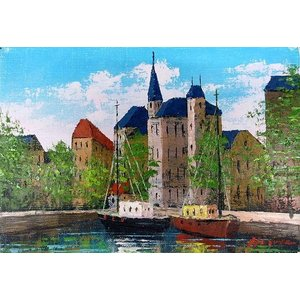 絵画 油絵 肉筆絵画 壁掛け ( 油絵額縁 アートフレーム付きで納品対応可 ) M4号サイズ 「オンフルール」 広瀬 和之 touo
