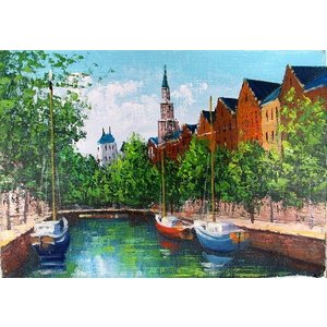 絵画 油絵 肉筆絵画 壁掛け ( 油絵額縁 アートフレーム付きで納品対応可 ) P15号サイズ 「アムステルダム」 広瀬 和之 touo