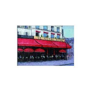 絵画 油絵 肉筆絵画 壁掛け ( 油絵額縁 アートフレーム付きで納品対応可 ) SMサイズ 「パリのカフェ ノートルダム」 石川 佳図|touo