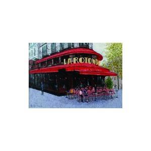 絵画 油絵 肉筆絵画 壁掛け ( 油絵額縁 アートフレーム付きで納品対応可 ) F4号サイズ 「パリのカフェ モンパルナス」 石川 佳図 touo
