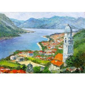 油彩画 洋画 肉筆絵画 ( 油絵額縁付きで納品対応可 ) WF6サイズ 「コルトモンテネグロ」 島本 良平|touo