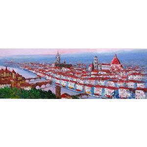 絵画 油絵 肉筆絵画 壁掛け ( 油絵額縁 アートフレーム付きで納品対応可 ) WF3サイズ 「フィレンツェ」 島本 良平|touo