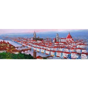 油彩画 洋画 肉筆絵画 ( 油絵額縁付きで納品対応可 ) WF6サイズ 「フィレンツェ」 島本 良平|touo