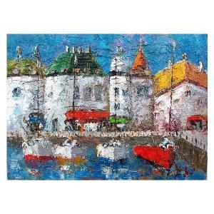絵画 油絵 肉筆絵画 壁掛け ( 油絵額縁 アートフレーム付きで納品対応可 ) WF3サイズ 「マルセイユ」 渡部 ひでき|touo